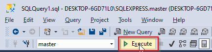 How to create a database in sql server 2019 using sqlcmd