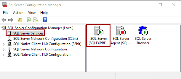 How to check SQL Server service is running