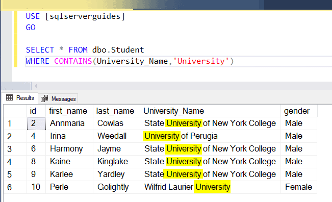 Implementing full-text search in SQL Server