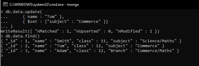 MongoDB update query with condition