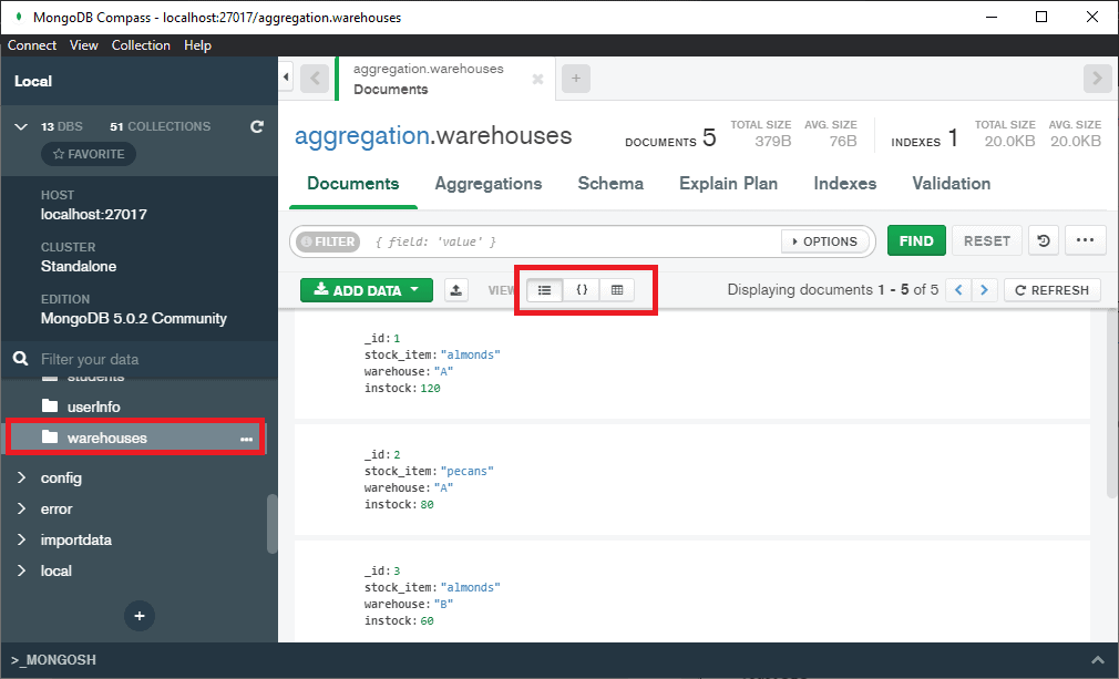 MongoDB Compass remove a field from the documents