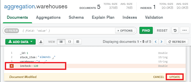 Remove a field from the documents using MongoDB compass